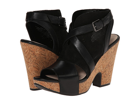 Naya - Maple (Black Leather/Nubuck) High Heels
