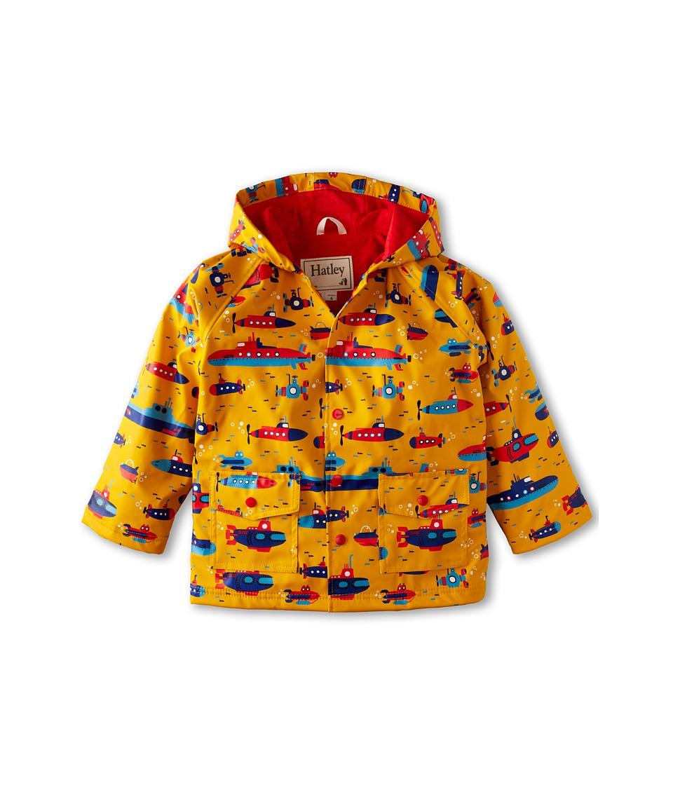 Hatley Kids - Submarines Raincoat (Toddler/Little Kids/Big Kids) (Yellow) Boy's Coat