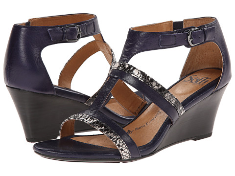 Sofft - Pippa (Navy/Grey Lucky Calf Milled/Python Print) Women