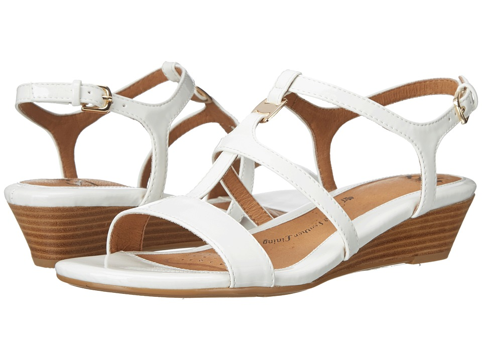 Sofft - Ilissa (White Patent) Women's Wedge Shoes