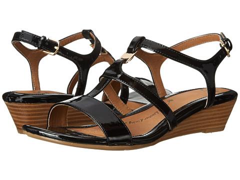 Sofft - Ilissa (Black Patent) Women's Wedge Shoes
