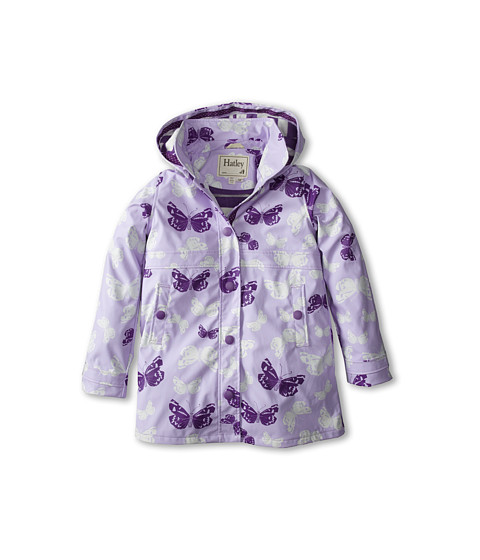 Hatley Kids - Graphic Butterflies Splash Jacket (Toddler/Little Kids/Big Kids) (Purple) Girl