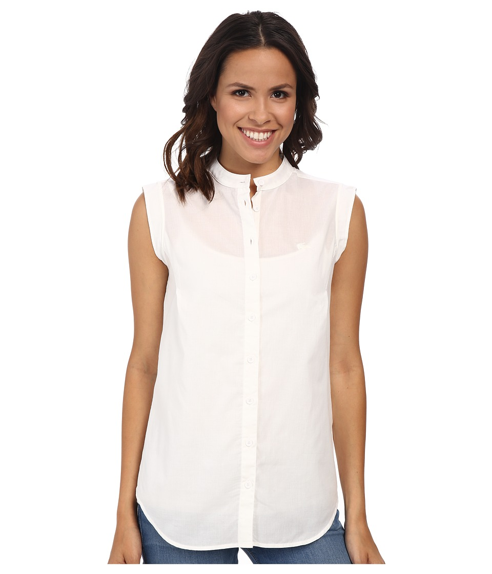 Lacoste - Sleeveless Shirt CF7463 (White) Women's Sleeveless