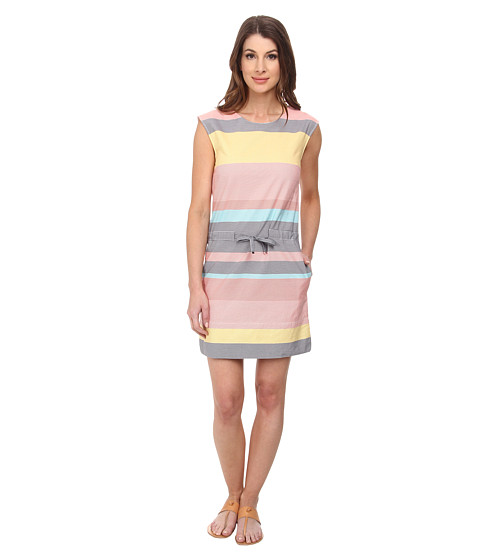 Lacoste - Sleeveless Multi-Stripe Shift Dress (Print) Women