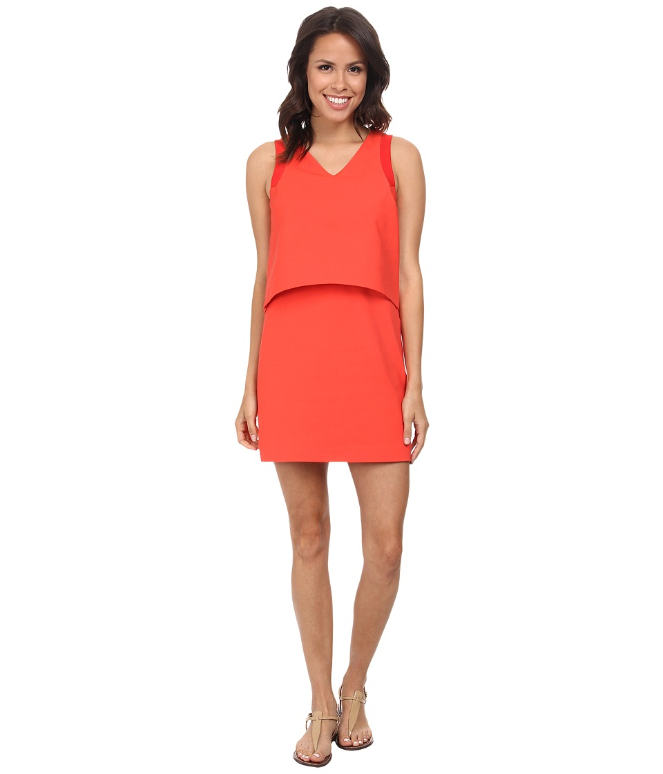 Lacoste L!ve Sleeveless Layered Tank Dress (Regal Red) Women