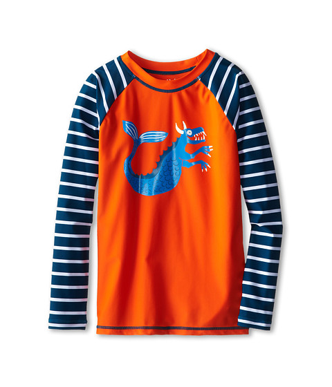 Hatley Kids - Sea Creatures Rash Guard (Toddler/Little Kids/Big Kids) (Orange) Boy's Swimwear