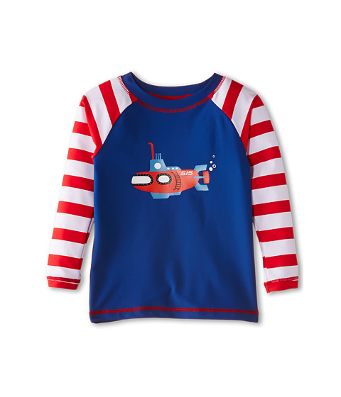 Hatley Kids - Submarines Rash Guard (Toddler/Little Kids/Big Kids) (Blue) Boy's Swimwear