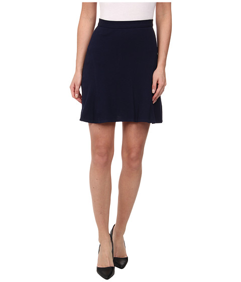 Lacoste - Stretch Pique Seamed Bell Skirt (Navy Blue) Women's Skirt
