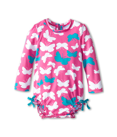 Hatley Kids - Graphic Butterflies Rash Guard (Infant) (Pink) Girl