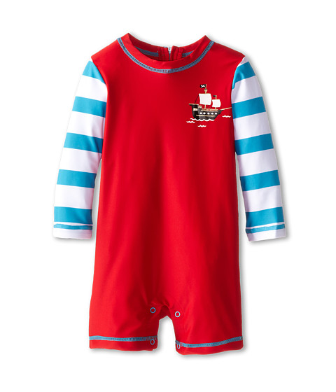 Hatley Kids - Treasure Island Rash Guard (Infant) (Red) Boy's Swimwear