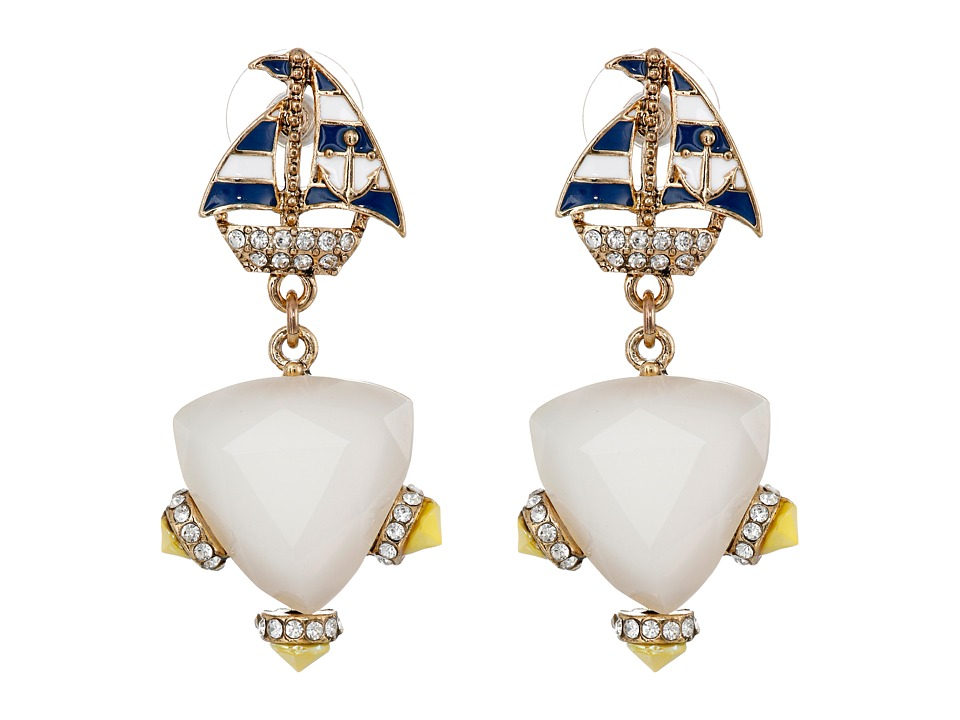 Betsey Johnson - Shipshape Sailboat Drop Earrings (Multi) Earring