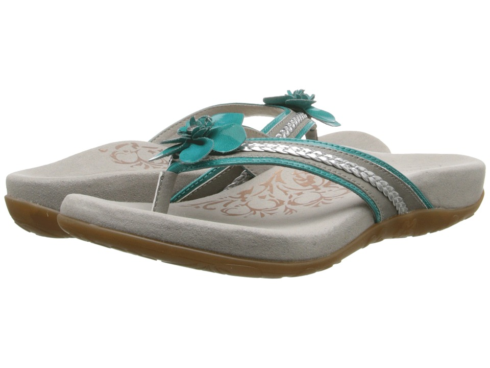 Aetrex - Selena Thong Sandal (Turquoise) Women's Toe Open Shoes