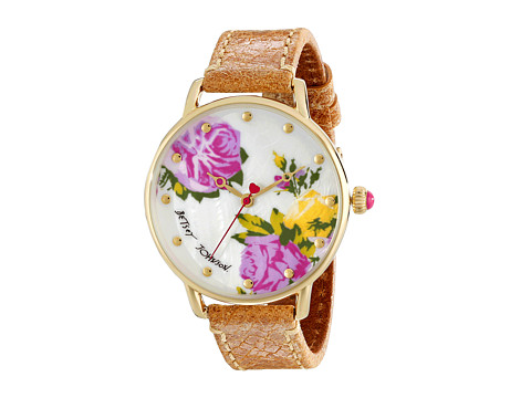 Betsey Johnson - BJ00207-05 (Brown/Gold/Mother of Pearl) Watches