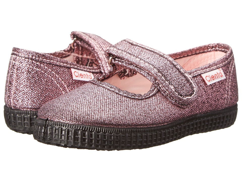 Cienta Kids Shoes - 56113.03 (Infant/Toddler/Little Kid/Big Kid) (Rose Gold/Black Sole) Girl's Shoes