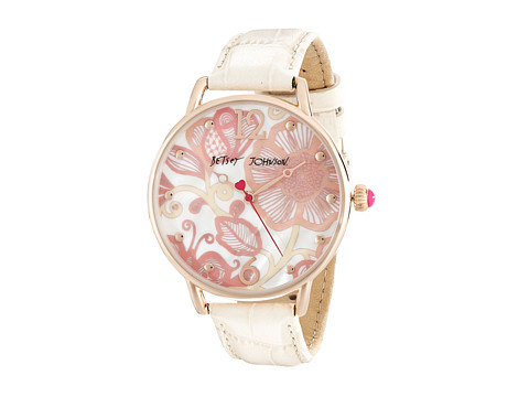 Betsey Johnson - BJ00207-06 (Brown/Rose Gold/Mother of Pearl) Watches