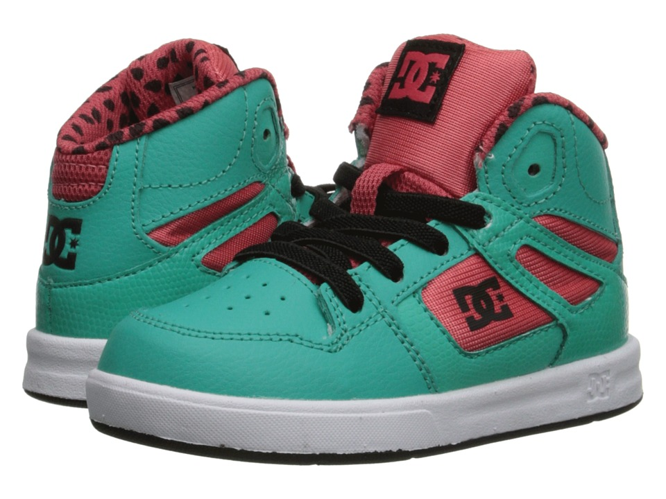 DC Kids - Rebound SE UL (Toddler) (Watermelon) Girls Shoes