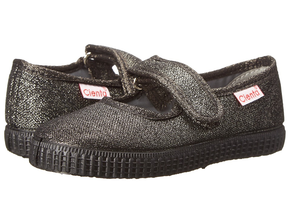 Cienta Kids Shoes - 56113.74 (Infant/Toddler/Little Kid/Big Kid) (Gunmetal/Black Sole) Girl's Shoes