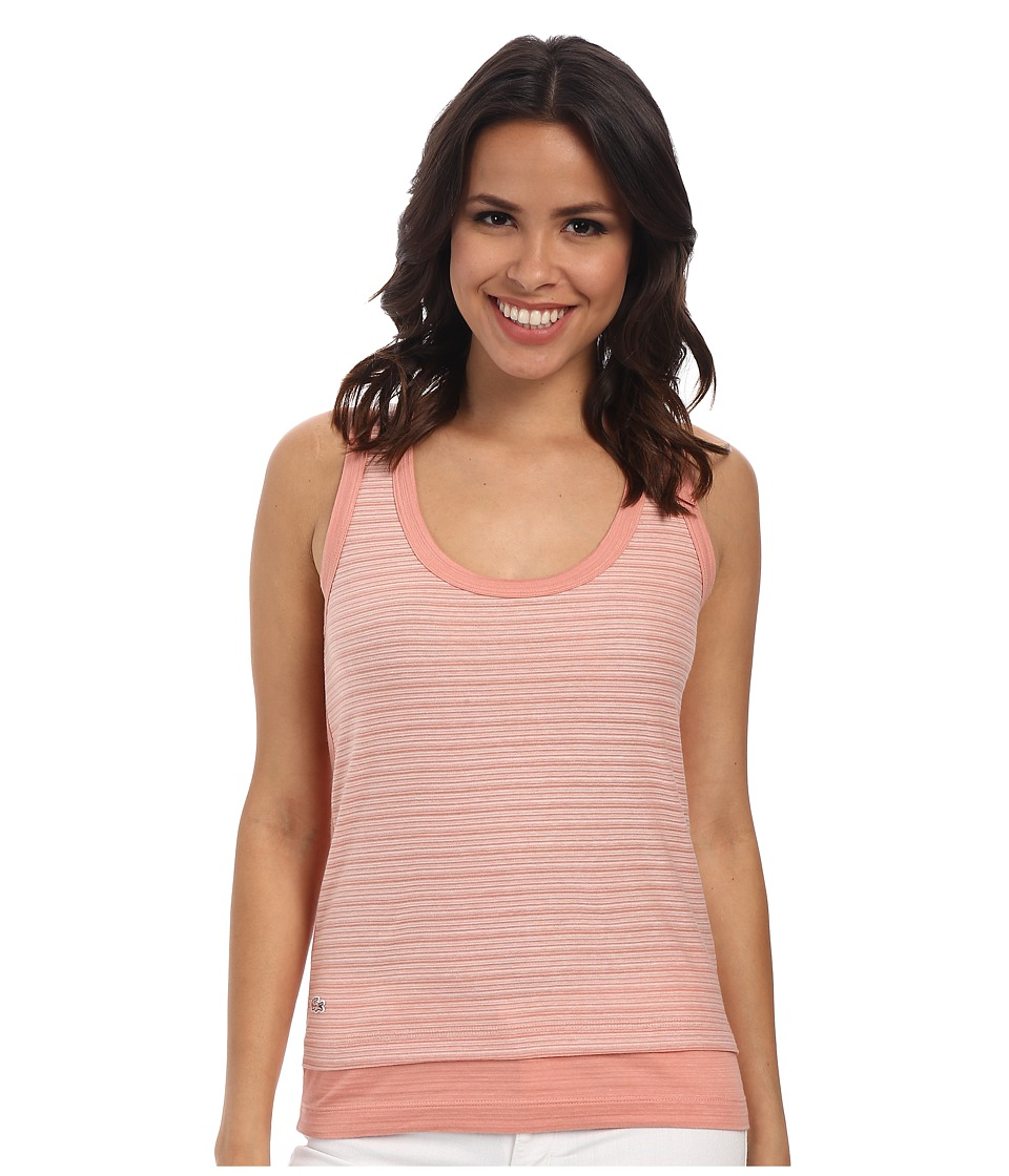 Lacoste - Sleeveless Stripe Solid Block Tank Top (Trianon Pink/Flour) Women