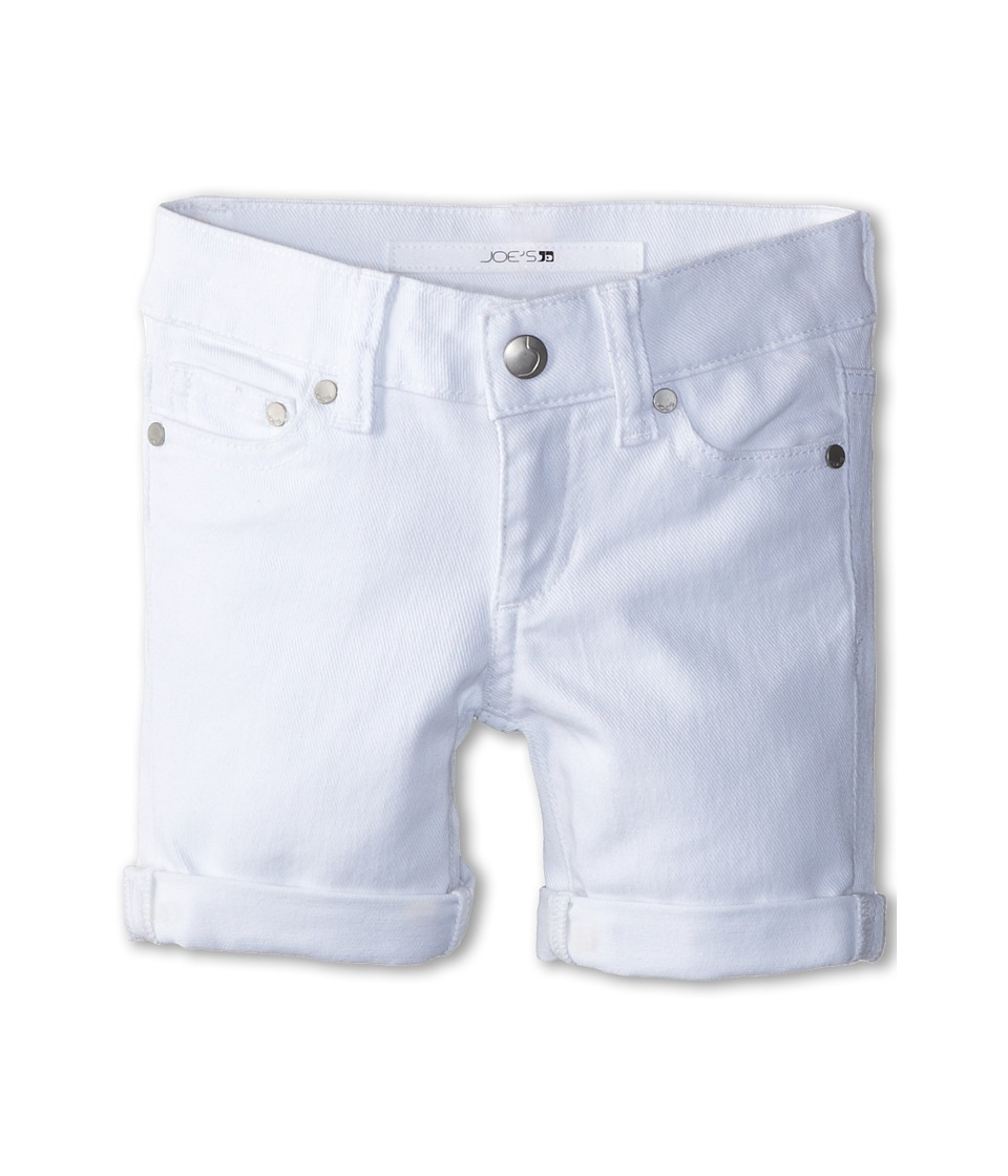 Joe's Jeans Kids - Annie Rolled Bermuda in Optical White (Toddler/Little Kids) (Optical White) Girl's Shorts