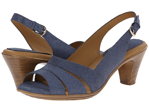 Softspots - Neima - Soft Spots (Blue Summer Linen) Women's Dress Sandals