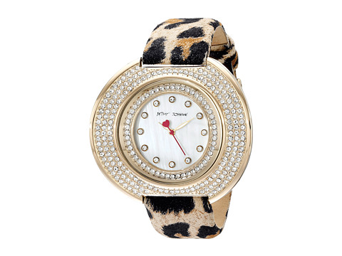 Betsey Johnson - BJ00486-02 (Leopard/Gold/Mother of Pearl) Watches