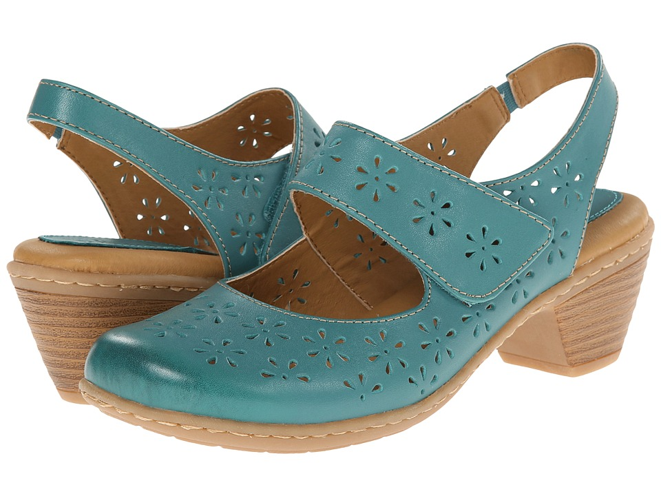 Softspots - Safia (Turquoise M-Vege) Women's Slip-on Dress Shoes