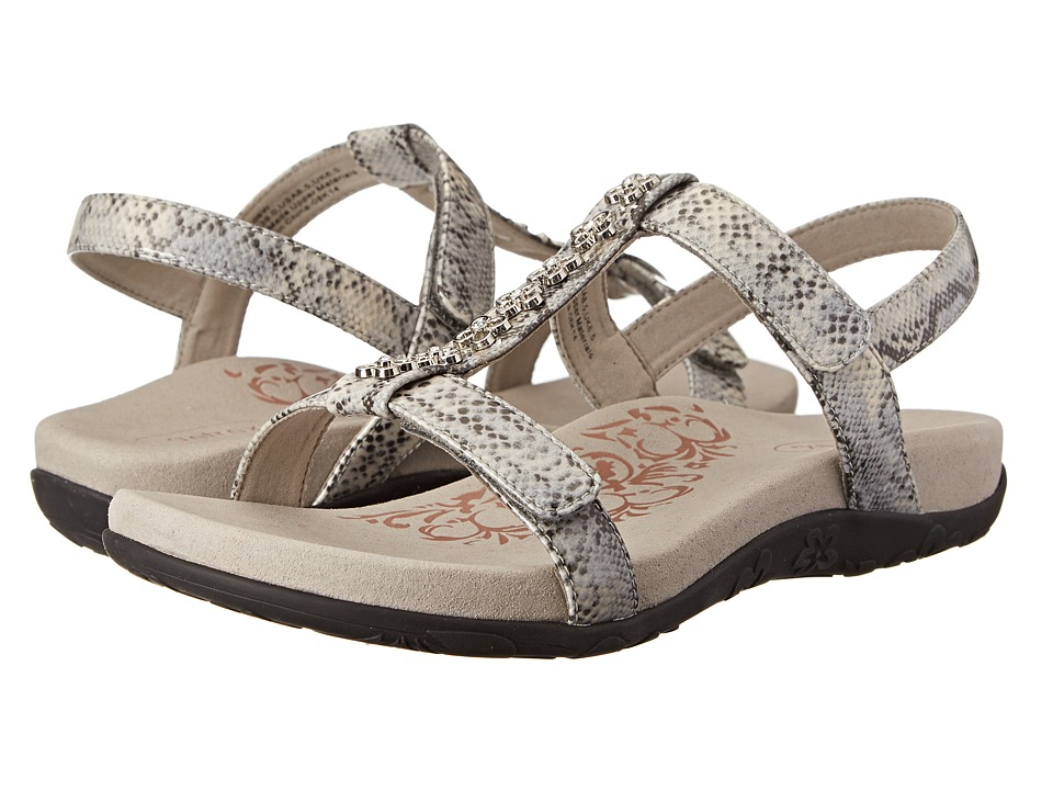 Aetrex - Molly Adjustable T-Strap (Snake) Women