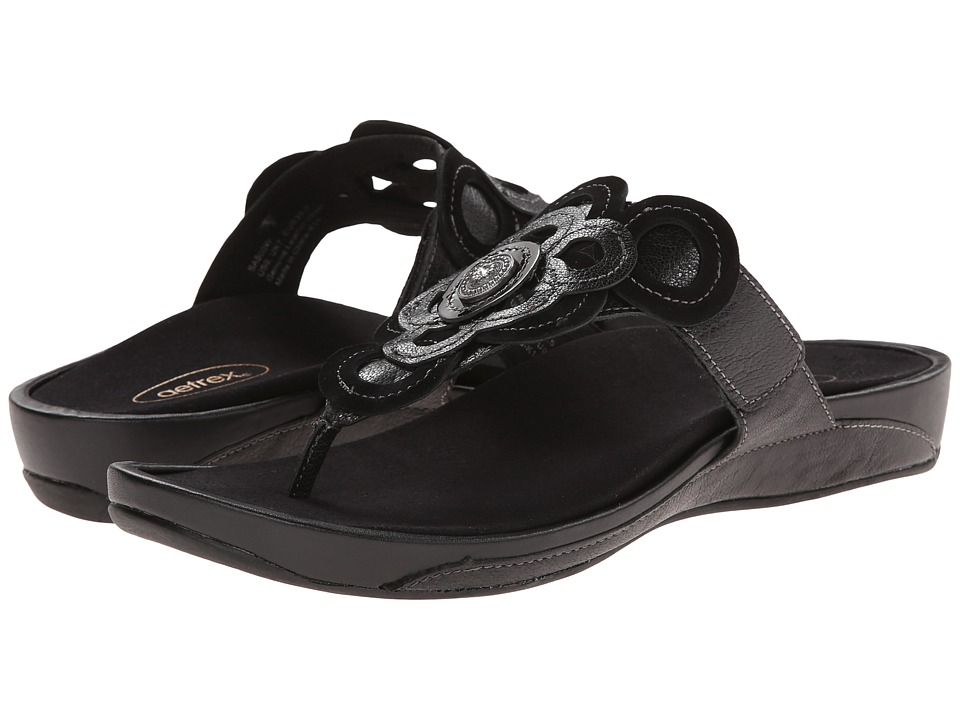 Aetrex Candace Thong Sandal (Black) Women