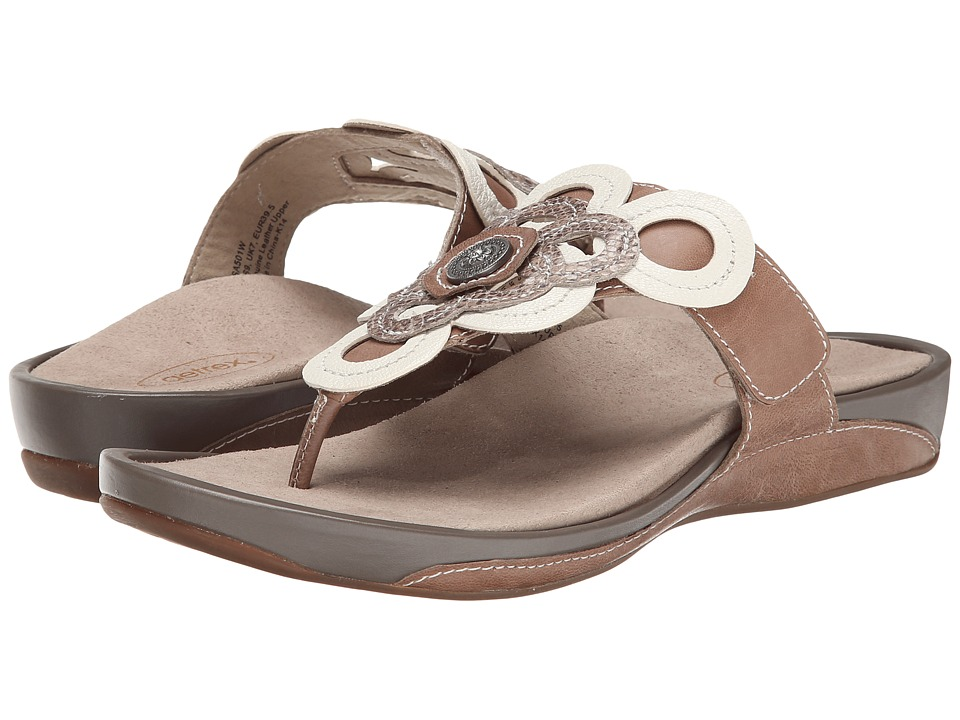 Aetrex Candace Thong Sandal (Taupe) Women