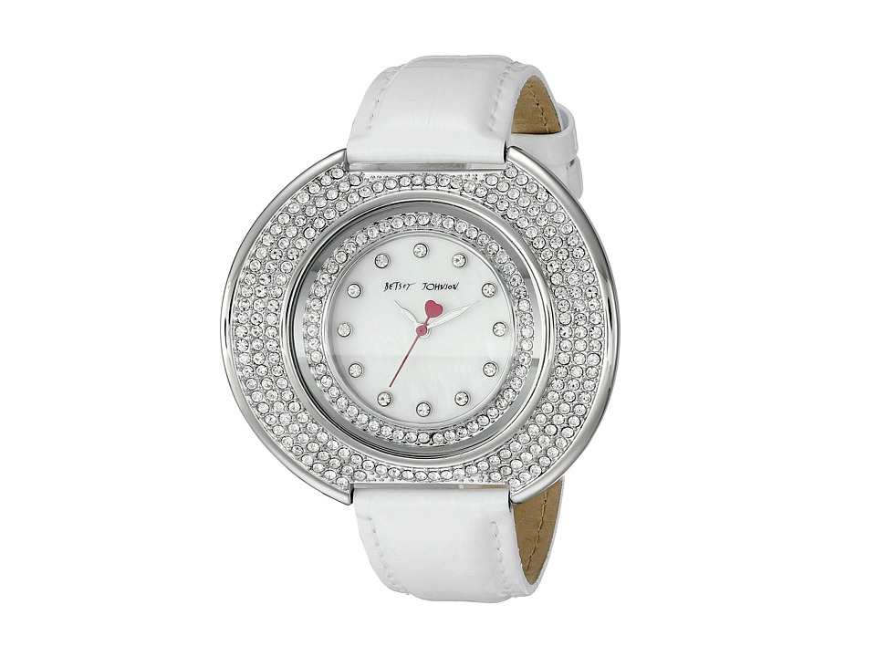 Betsey Johnson - BJ00486-01 (White/Silver/Mother of Pearl) Watches