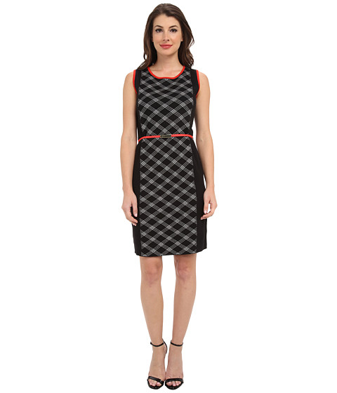 Jones New York - Sleeveless Crew Neck Dress (Black Multi) Women's Dress