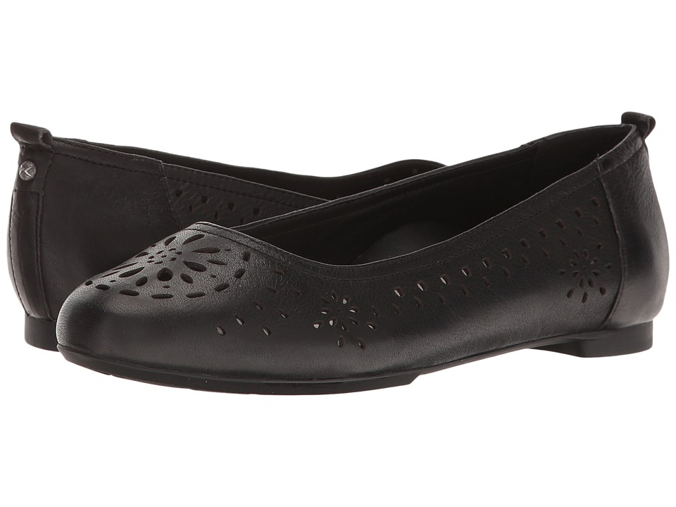 Aetrex - Joanna Ballet Flat (Black) Women's Dress Flat Shoes
