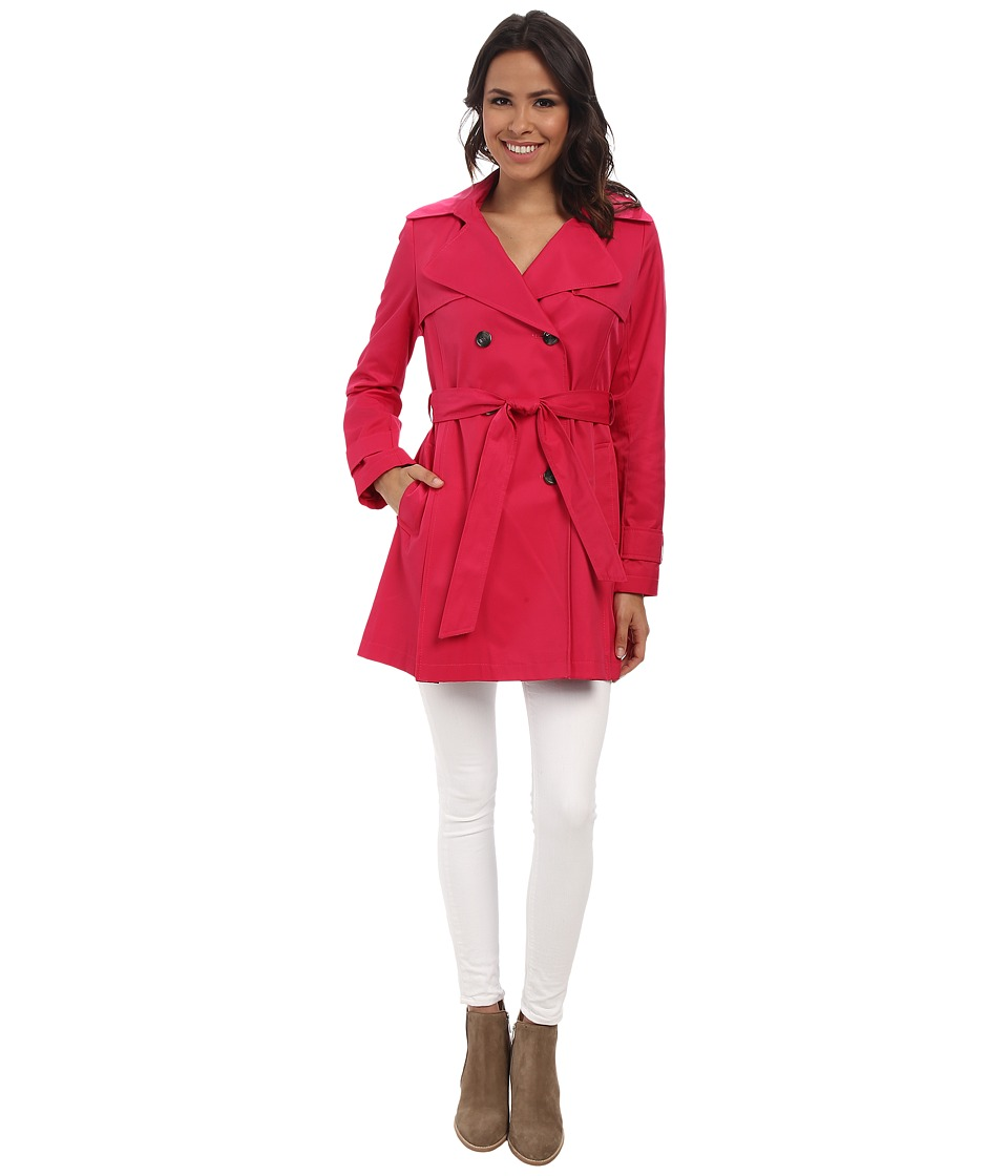 DKNY - Double-Breasted Skirted Trench Coat (Primrose) Women's Coat