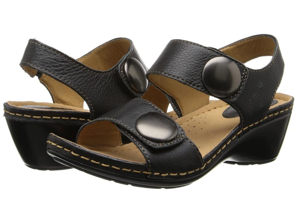 Comfortiva - Pamela - Soft Spots (Black Calf Ionic) Women's Sandals