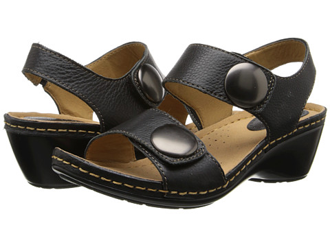 Softspots - Pamela (Black Calf Ionic) Women's Sandals