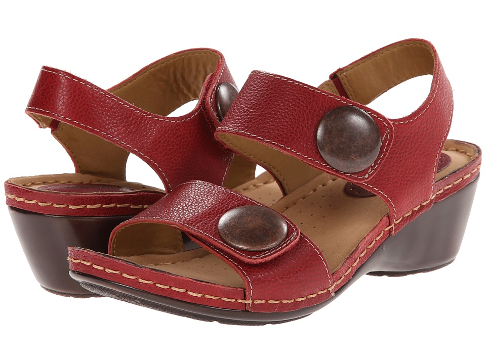 Comfortiva - Pamela - Soft Spots (Hot Red Melba) Women's Sandals