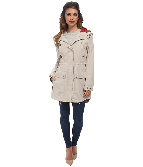 DKNY - Hooded Anorak with Contrast Hood (Powder) Women's Coat