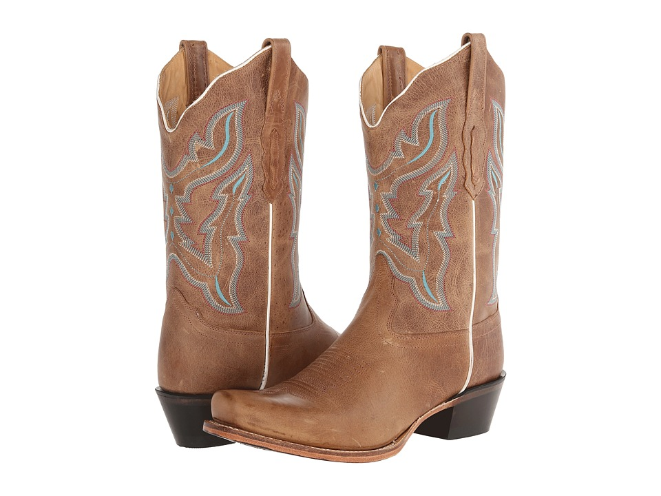 Old West Boots - 18006 (Light Brown) Cowboy Boots