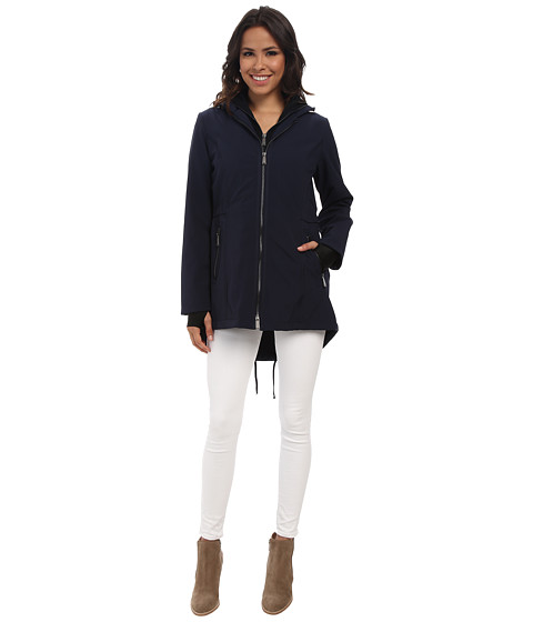 DKNY - Zip Front Anorak Jacket (Navy) Women
