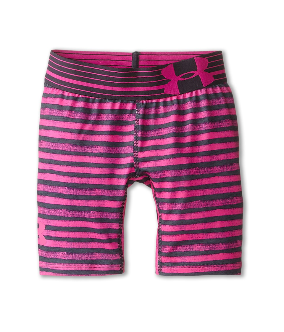 Under Armour Kids - HeatGear(r) Alpha 5 Printed Short (Big Kids) (Asphalt Heather/Lead/Rebel Pink) Girl's Shorts
