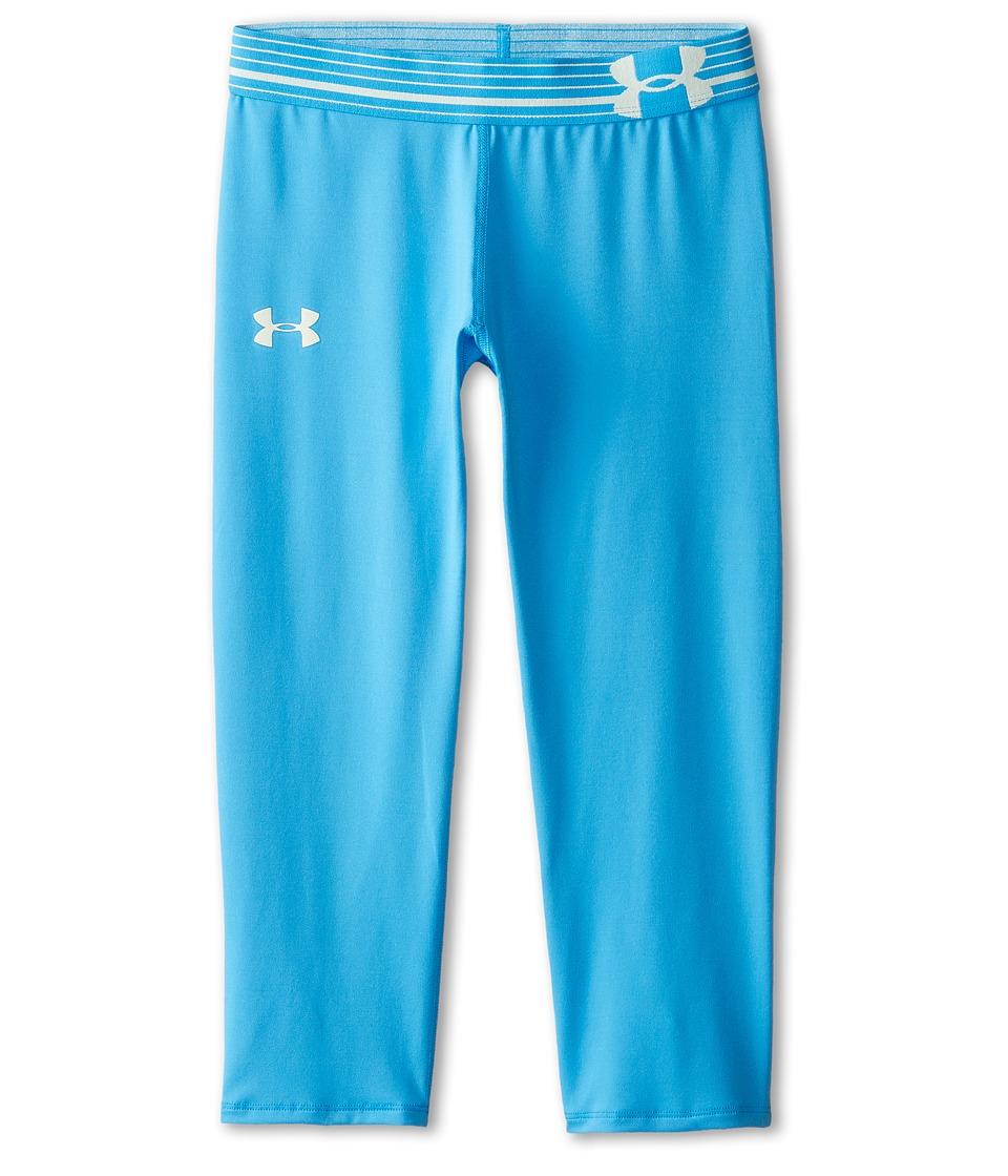 Under Armour Kids - HeatGear(r) Alpha Solid Capri (Big Kids) (Jazz Blue/Sugar Mint) Girl's Workout