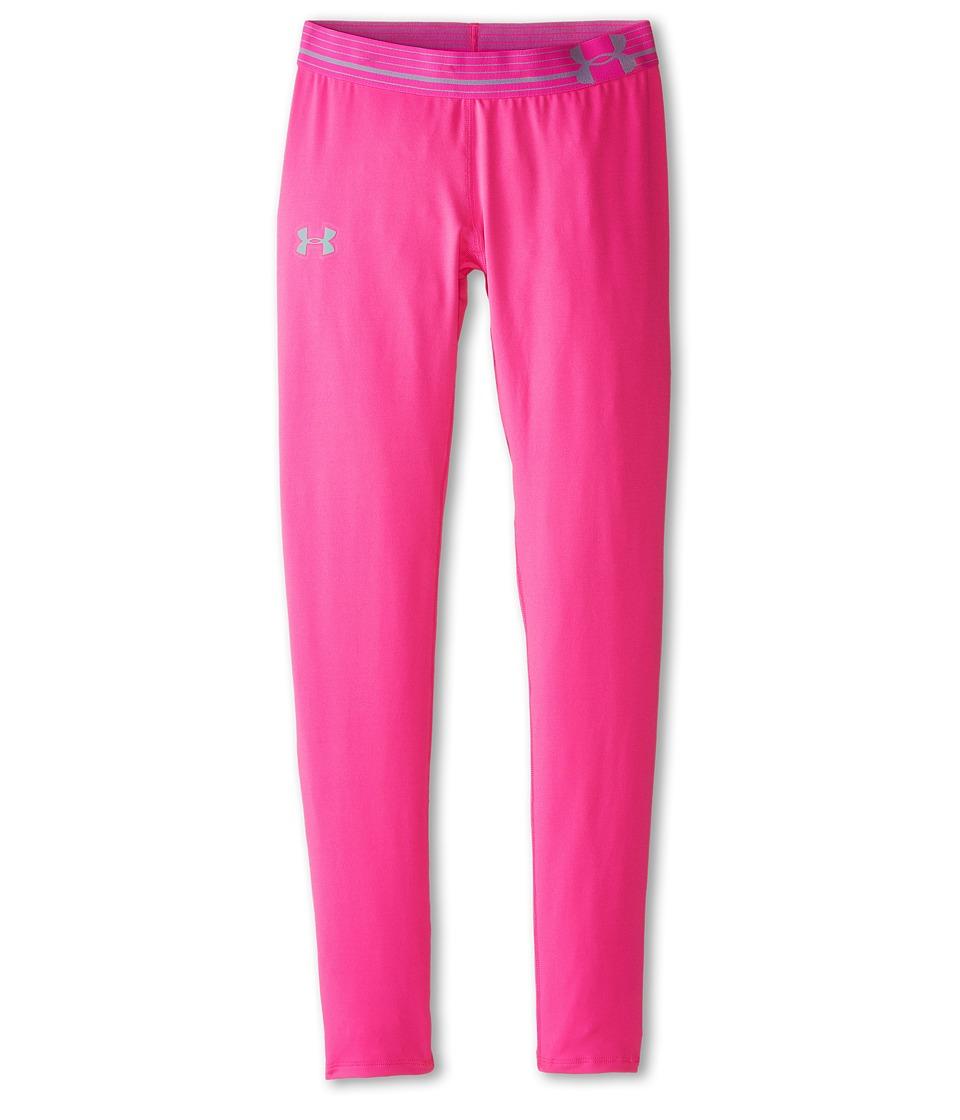 Under Armour Kids - HeatGear(r) Alpha Solid Legging (Big Kids) (Rebel Pink/Rebel Pink/Steel) Girl's Casual Pants