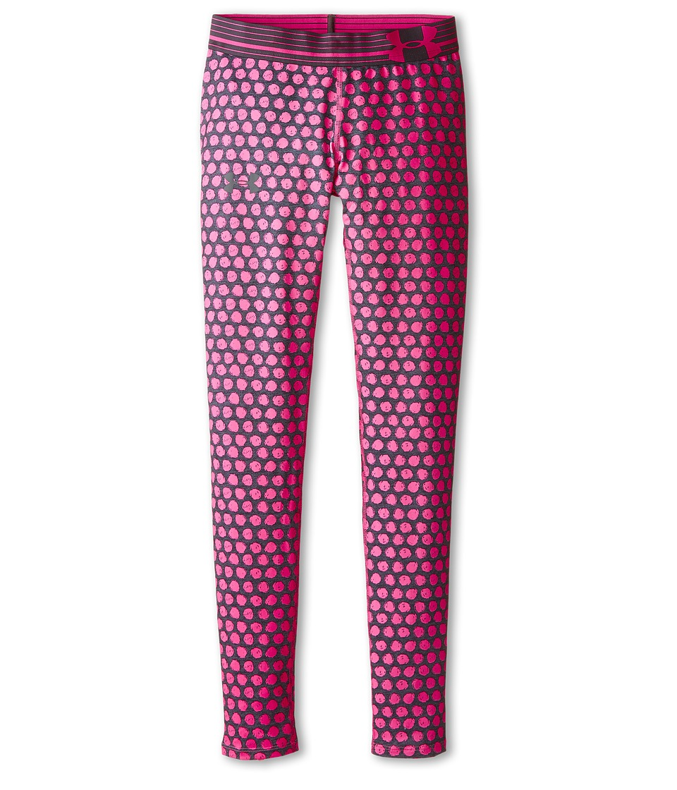 Under Armour Kids - HeatGear(r) Alpha Printed Legging (Big Kids) (Asphalt Heather/Lead/Steel) Girl's Casual Pants