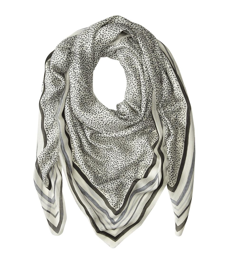 Proenza Schouler - F00140 BSP102-20164 (White/Grey/Black Polkadot Frame Print) Scarves