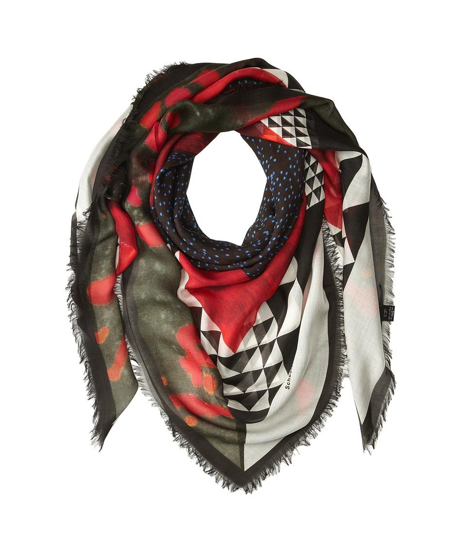Proenza Schouler - F00138 BSP102-20838 (Red/Black Framed Sky Print) Scarves