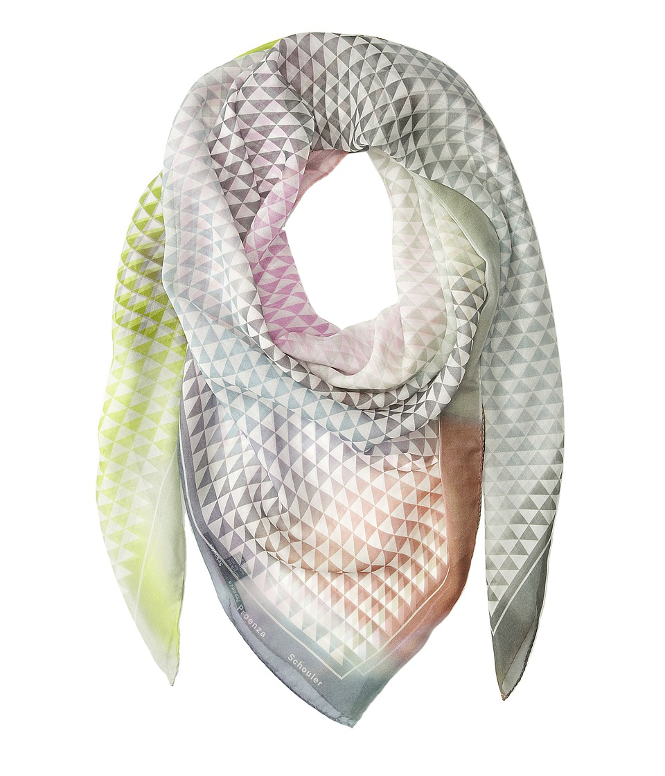 Proenza Schouler - F00138 BSP101-20160 (White/Blush Photo Gate Print) Scarves