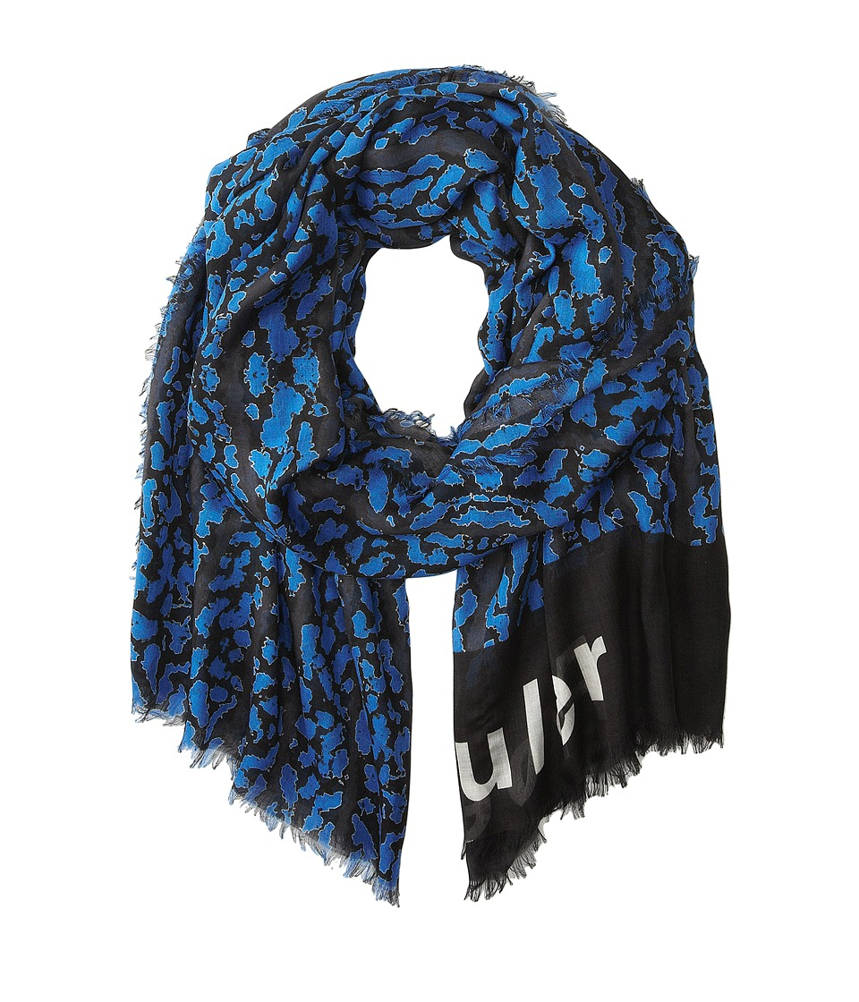 Proenza Schouler - F00108 BSP102-20278 (Black/Electric Blue Bug Print) Scarves