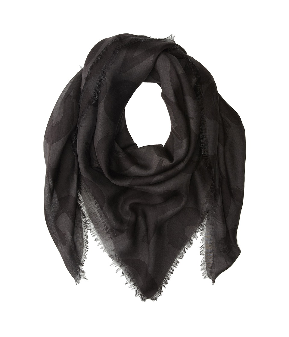 Proenza Schouler - F00140 BSP102-21027 (Charcoal/Black Text Print) Scarves