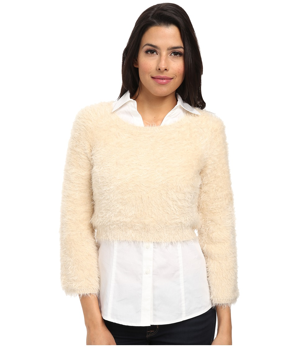 525 america - Feather Yarn Super Crop (Sandstorm) Women's Sweater