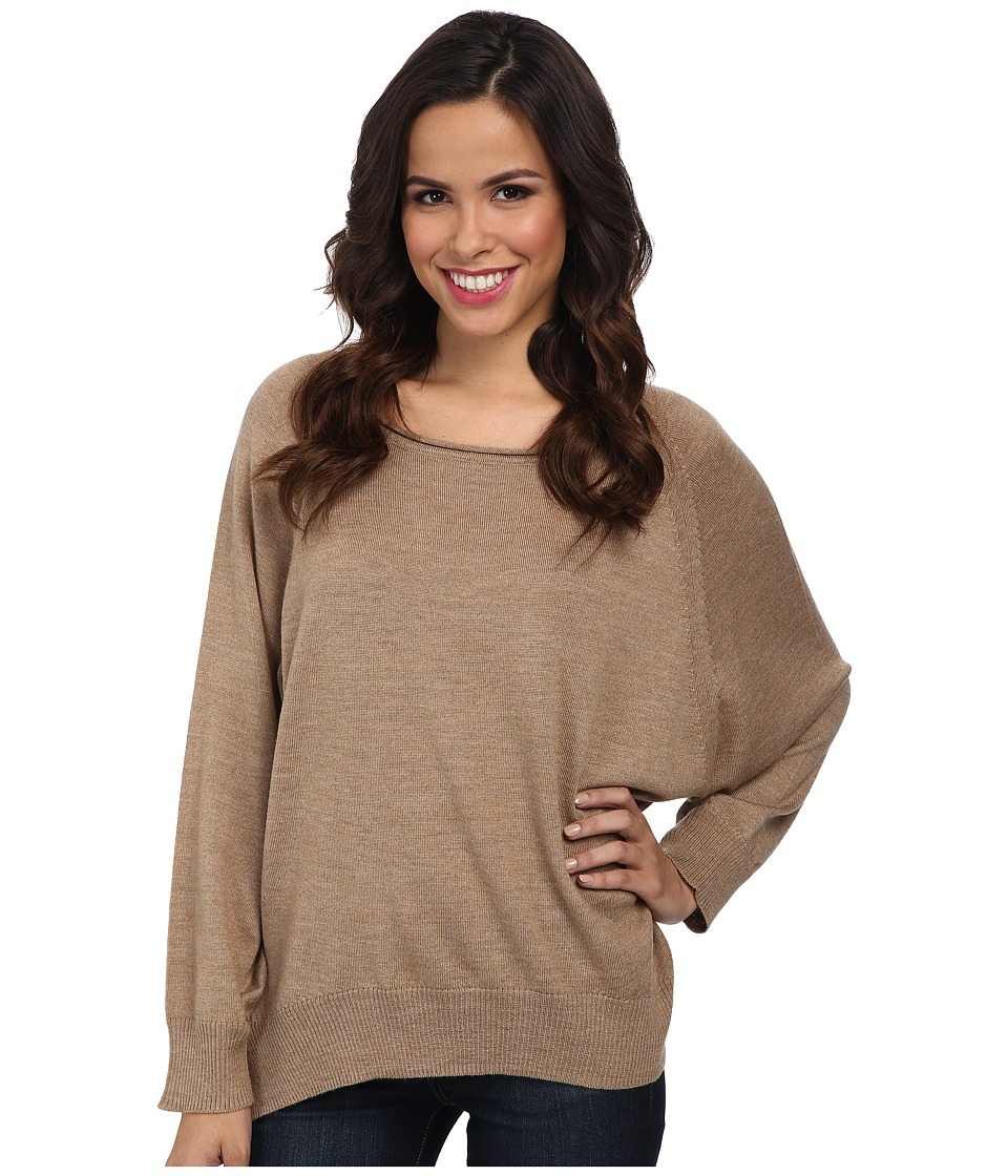 525 america - Wash Merino Rounded Bottom (Camel) Women's Sweater